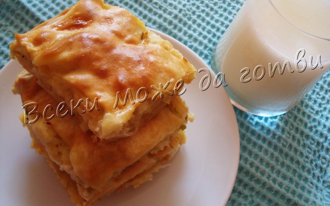 Баница с картофи, праз и сирене