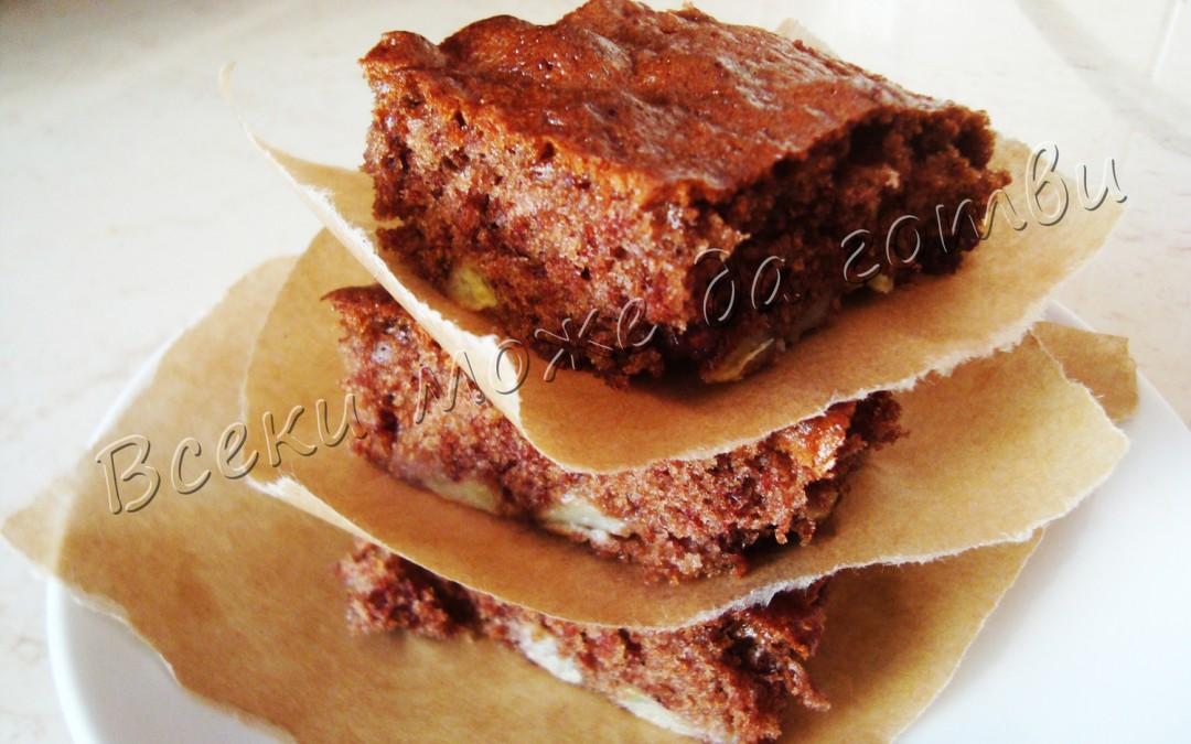 Разкошен кекс с банани и какао