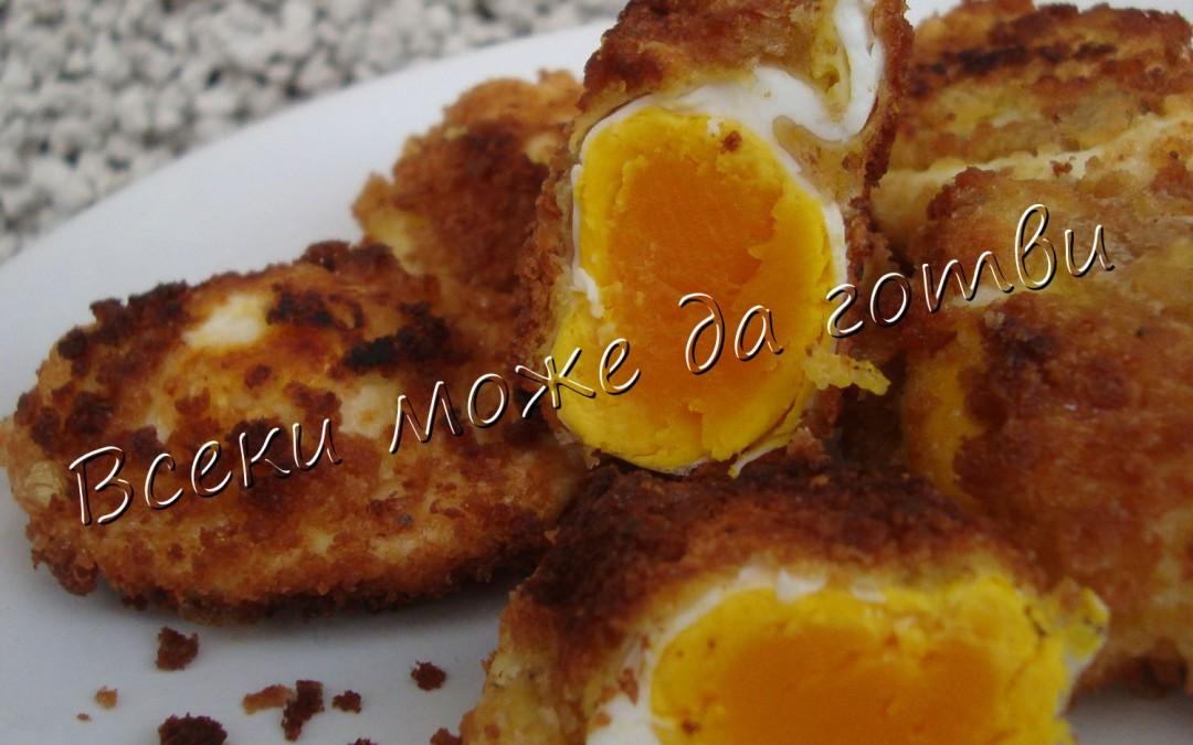 Необикновени панирани яйца