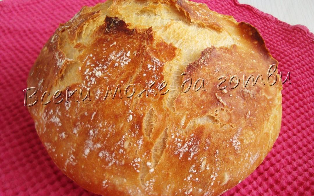 Най-лесният селски хляб без месене – ето как се прави