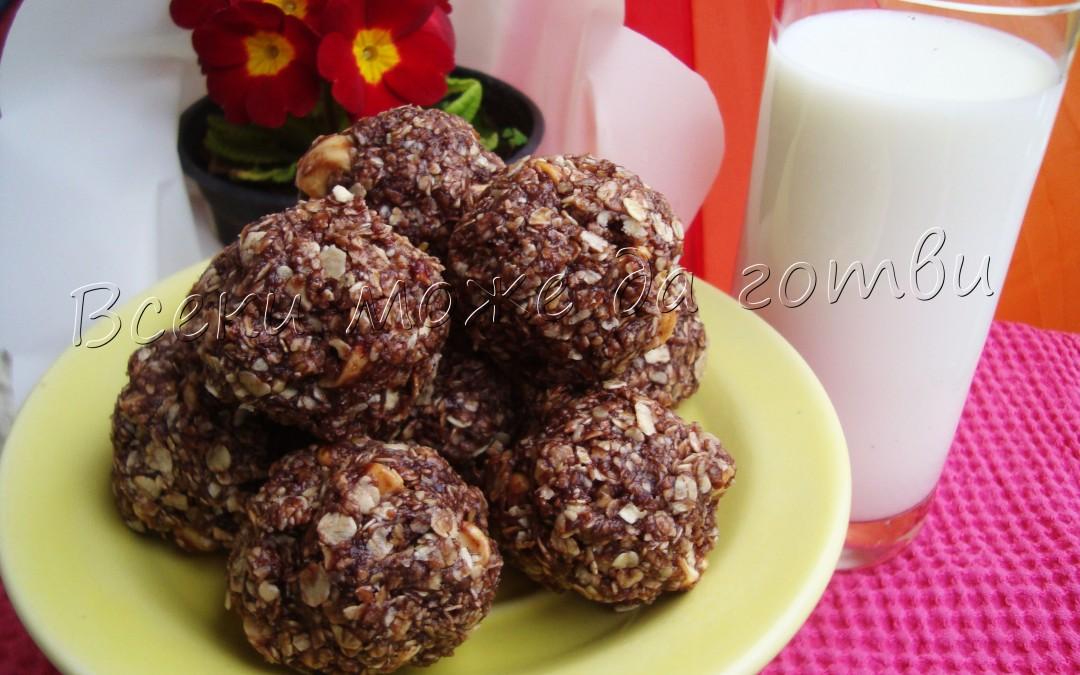 Хрупкави бонбони с овесени ядки