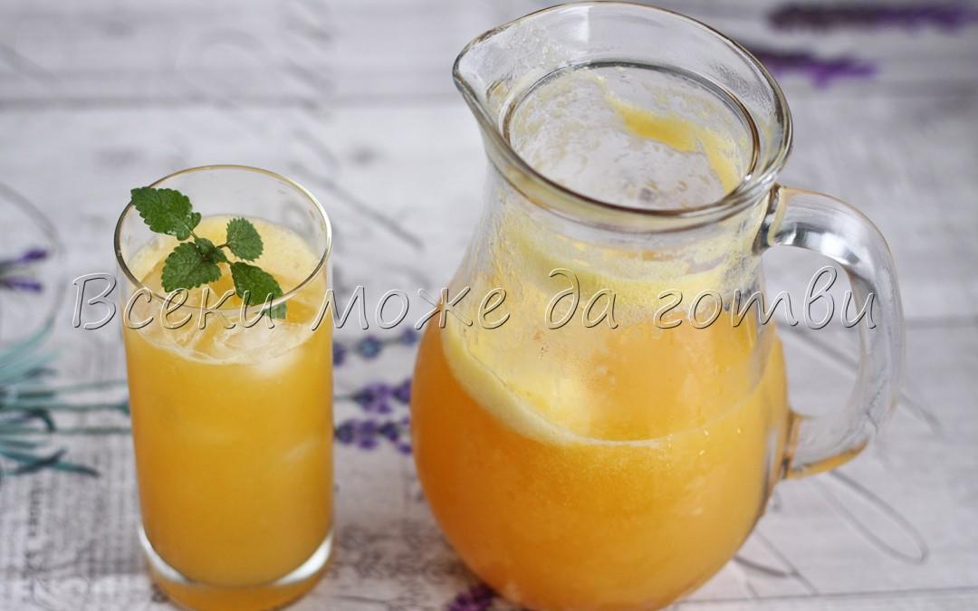 Прасковена лимонада – разхлаждаща напитка за лятото