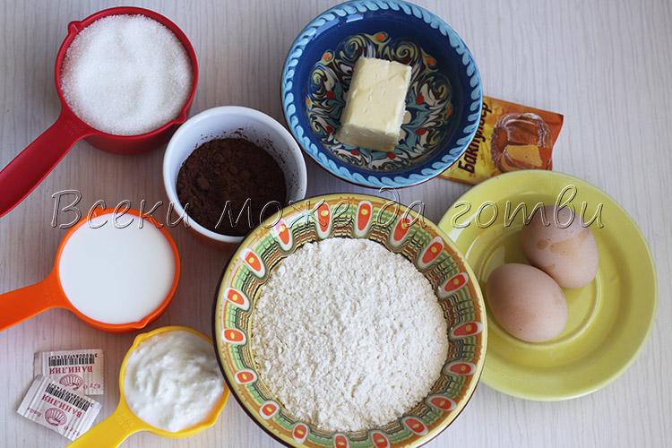 produkti za shokoladov keks