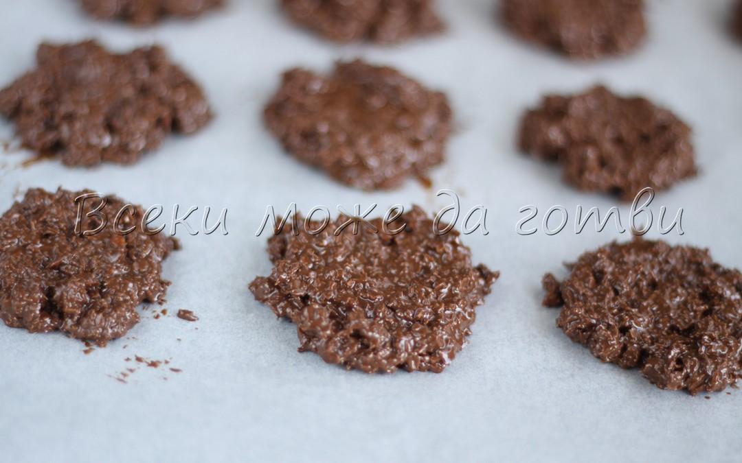 Шоко бисквити без печене само с 3 съставки
