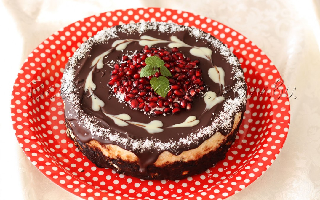 Завладяваща бисквитена торта с кокос и шоколадова глазура