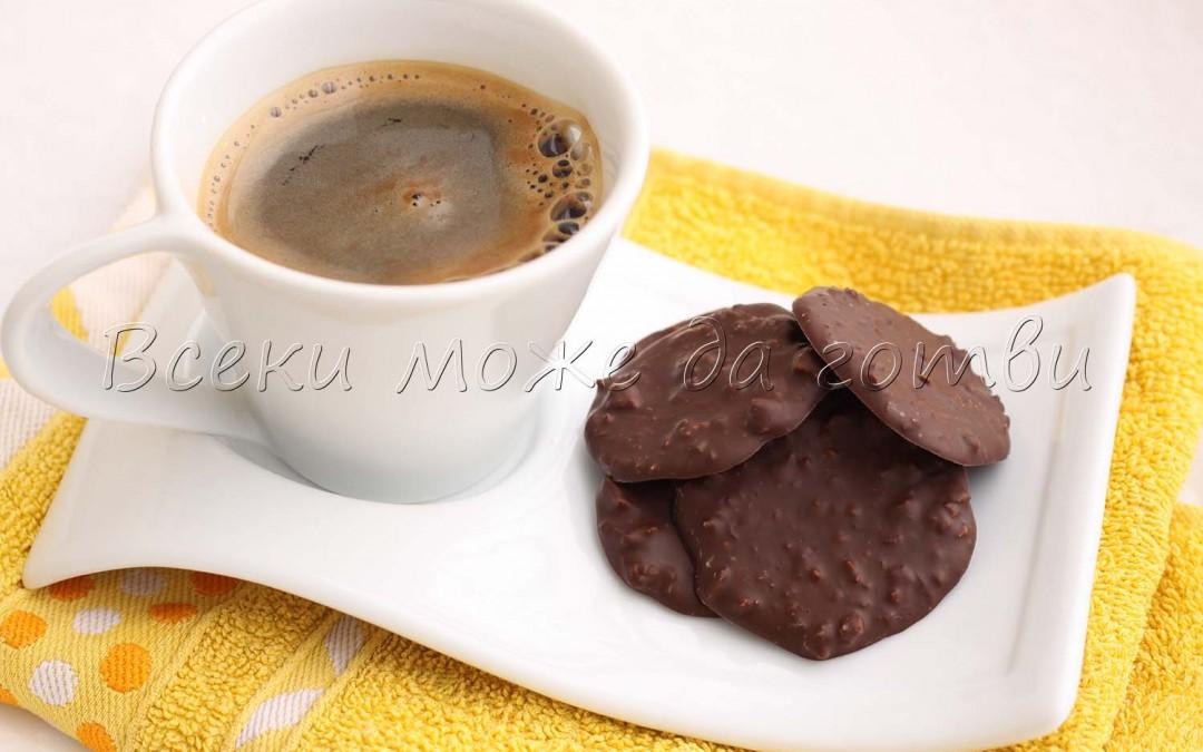 Тънки шоколадови бонбони с карамелизирани бадеми – вижте как се приготвят