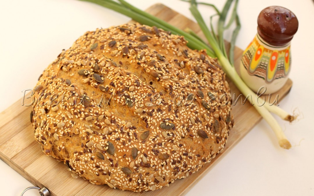 Пухкав домашен хляб без бяло брашно – уникално вкусна рецепта