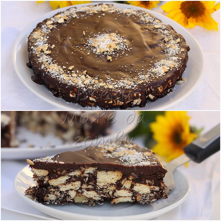 десерт без печене с бисквити