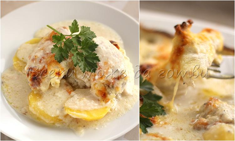 картофи с пилешко месо рецепта