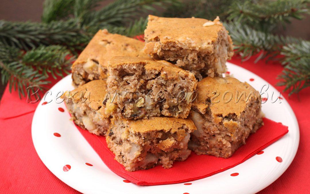 Икономична рецепта за постен кекс с круши и орехи
