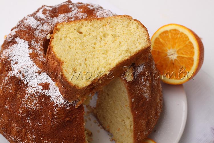 кекс с портокалов сок рецепта