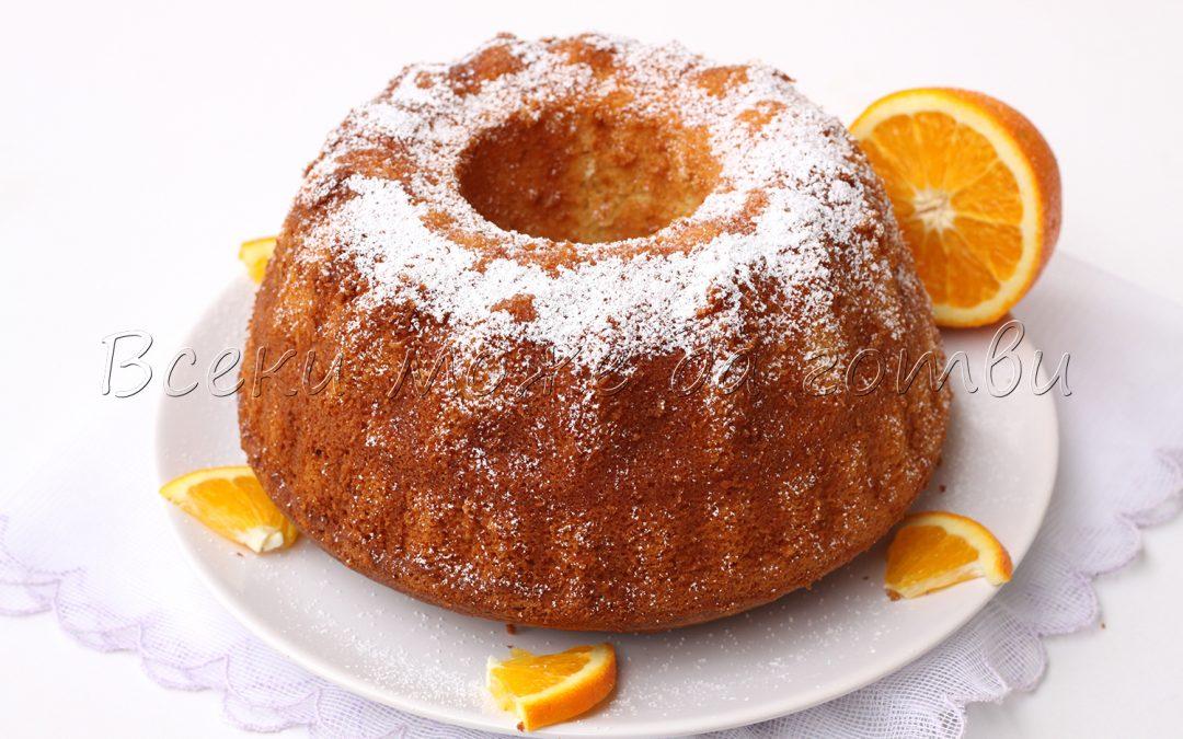 Пухкав и ароматен кекс с портокали – лесна и чудесна рецепта