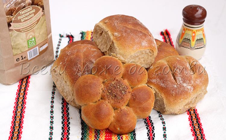 хлебчета с типово брашно рецепта