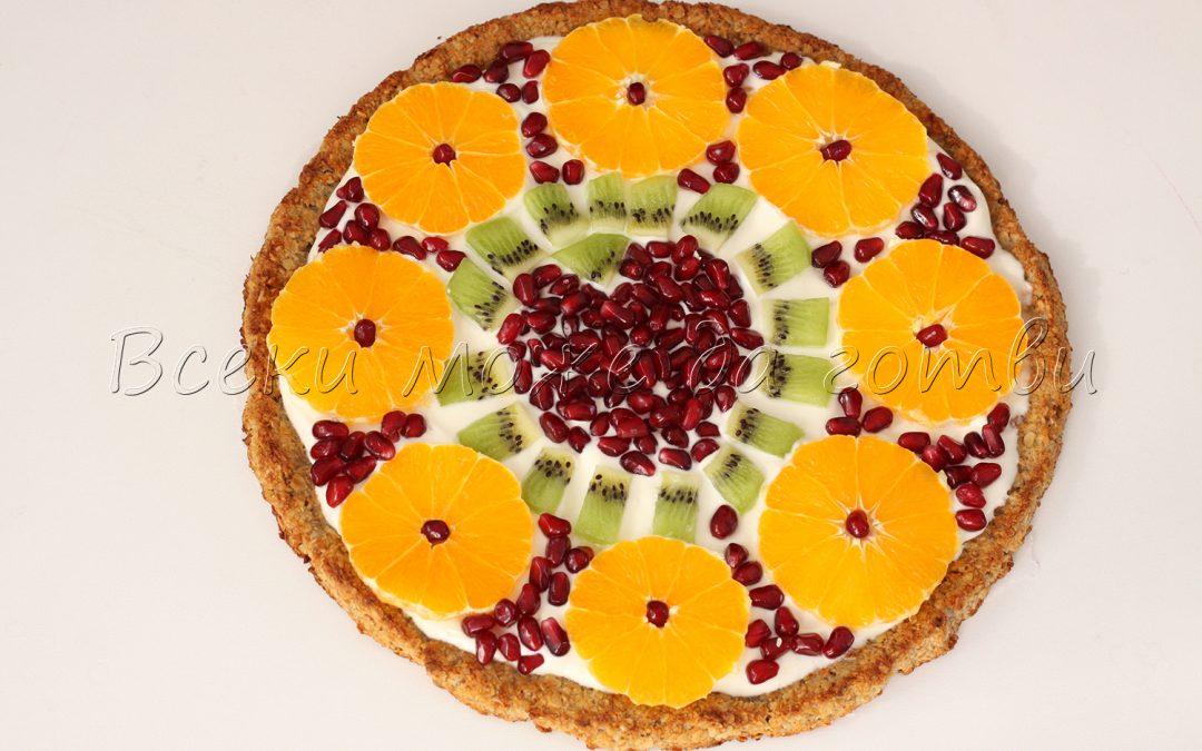 """Сладка пица """"Цветна феерия"""" – готова е за по-малко от час"""