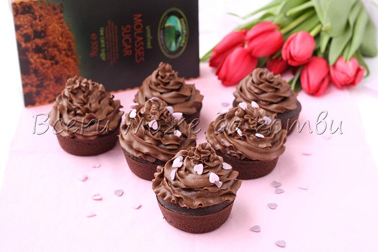 шоколадови мъфини с вино