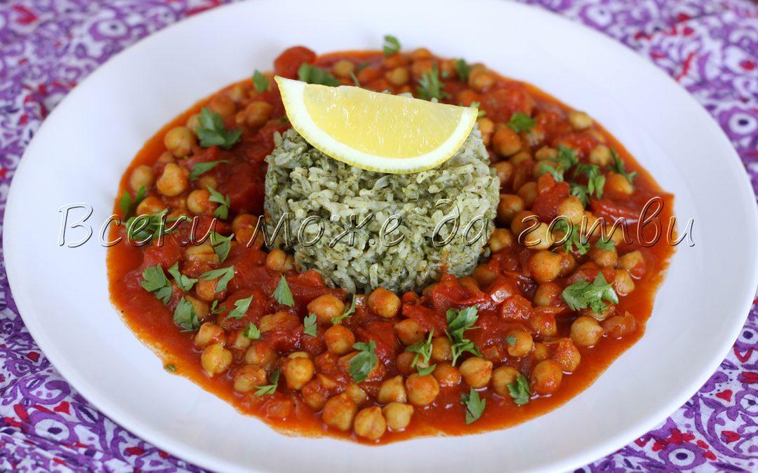 Вкусът на Индия: Екзотично ястие с ориз и нахут