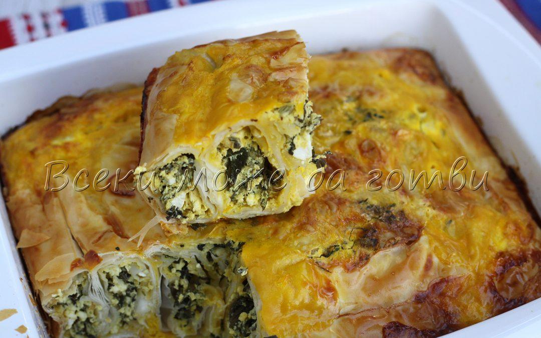 Рецепта №1 за пролетта: Бърза и вкусна баница с коприва и сирене