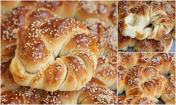 пухкави хлебчета с масло