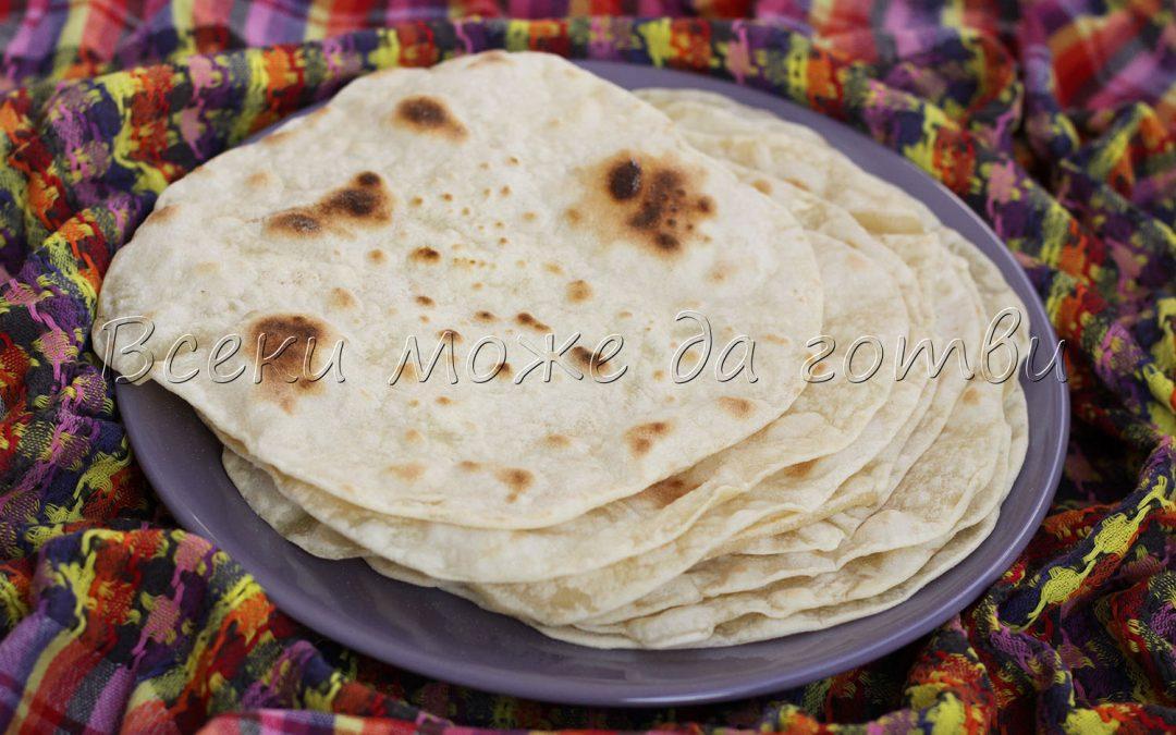 Лаваш (плоски арменски питки) – лесна и бърза рецепта без мая