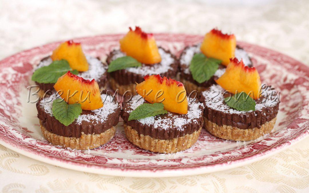 Шоколадови чийзкейкчета без печене – готови за 10 минути