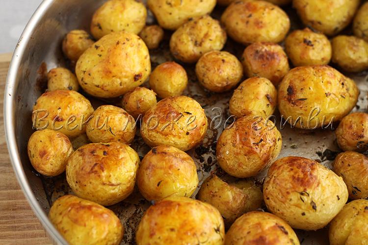 пресни картофи на фурна рецепта