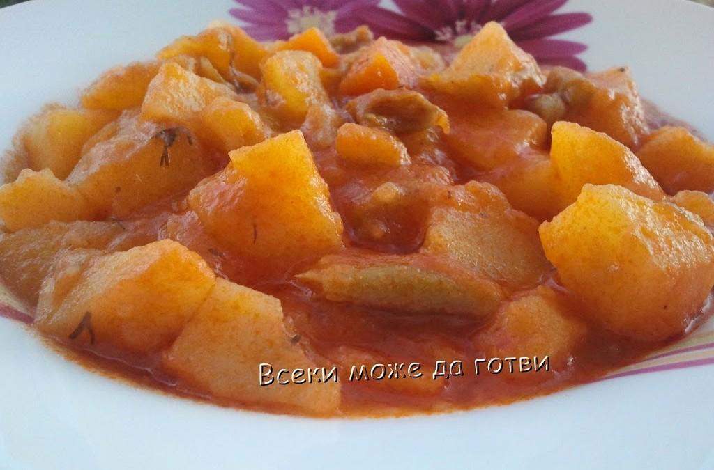 Яхния с картофи и зелен фасул
