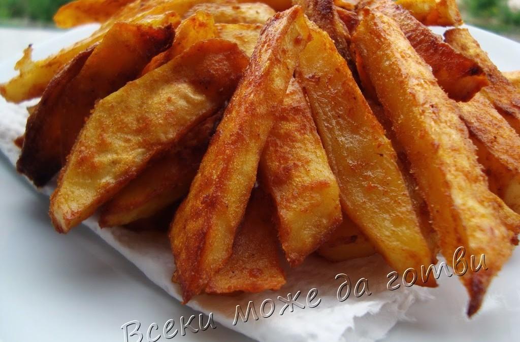 """""""Пържени"""" картофи на фурна"""