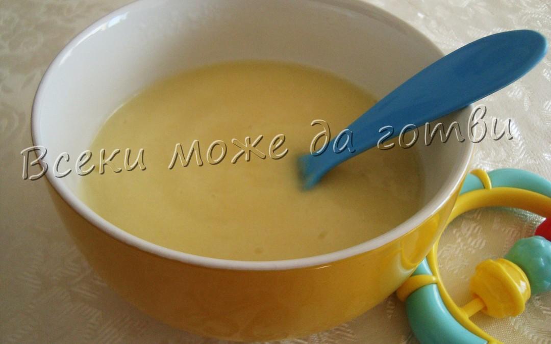 Вкусно зеленчуково пюре от карфиол и картоф (7+ месеца)