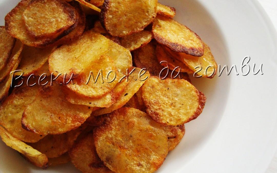 Хрупкав картофен чипс на фурна