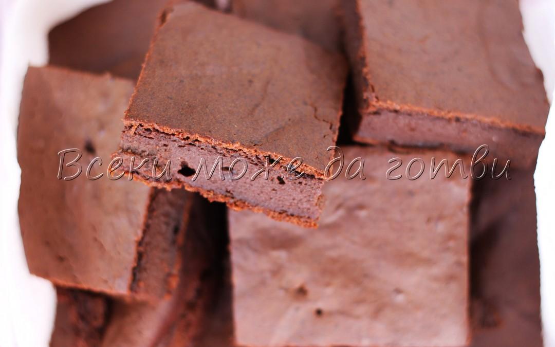 Нестандартен шоколадов кекс с газирана вода