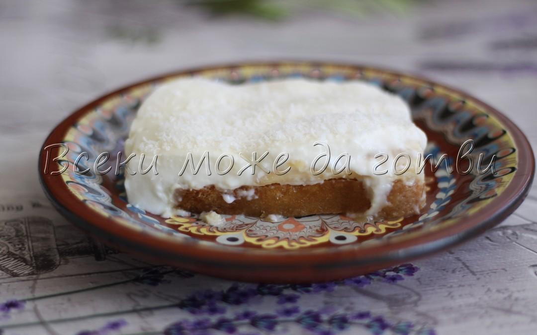 Лесен и ефирен сладкиш със сухари