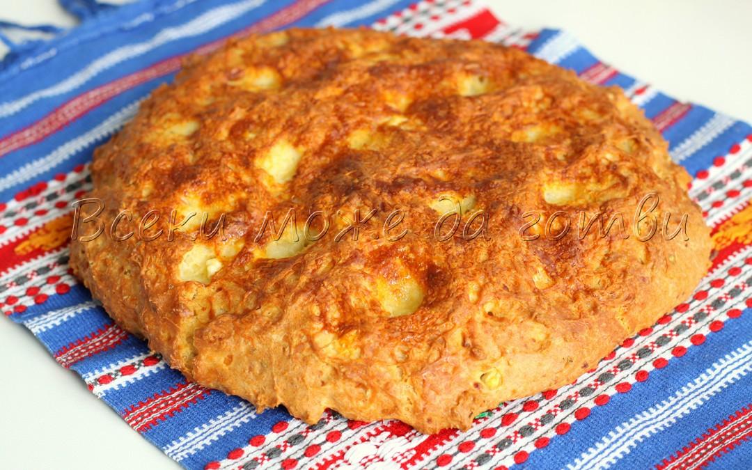 Бърканата содена питка на мама със сирене и кашкавал