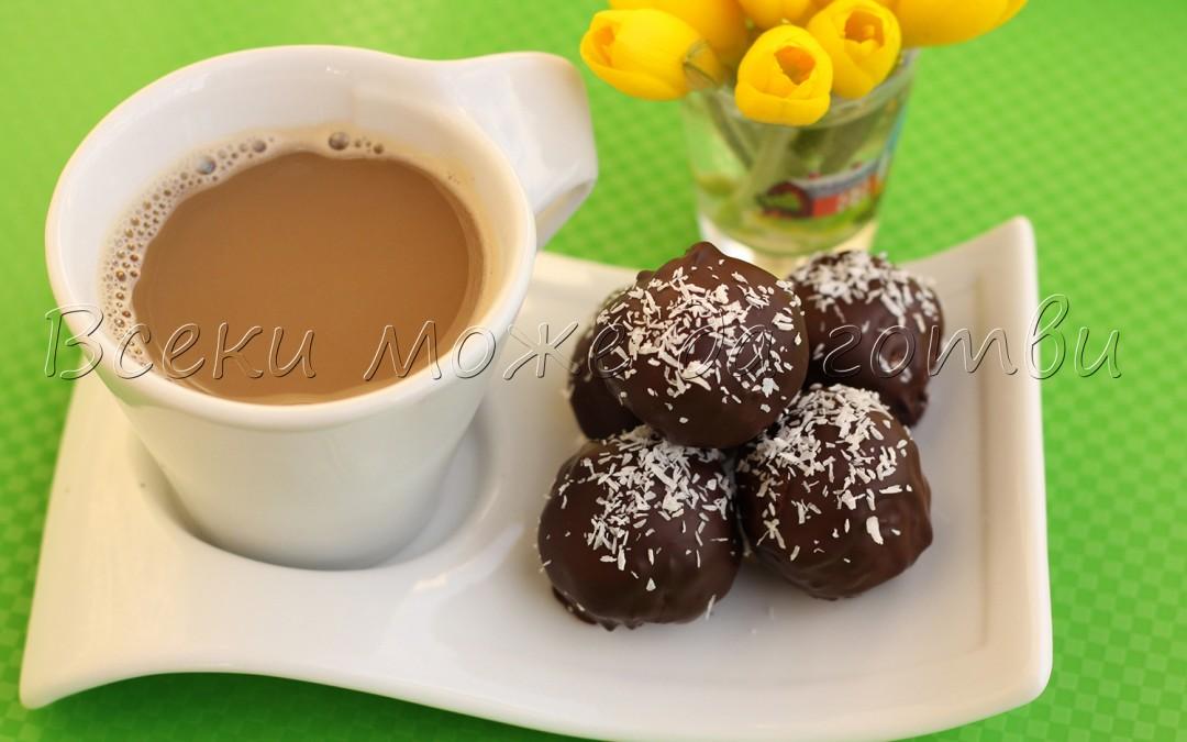 Ето как се правят лесни кокосови бонбони с шоколад (бърза рецепта)