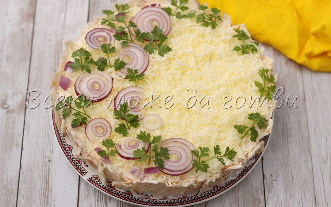 Уникално вкусна солена торта – бърза, лесна и без печене