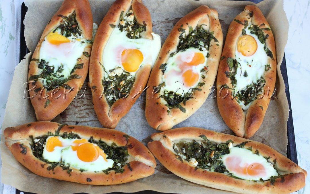 Турско пиде със сирене и спанак – най-сполучливата рецепта