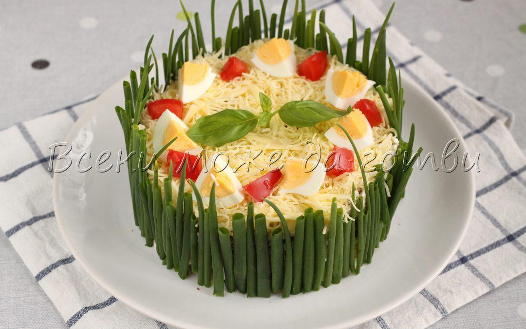 Солена торта №1 за пролетта – прави се с хляб и зеленчуци